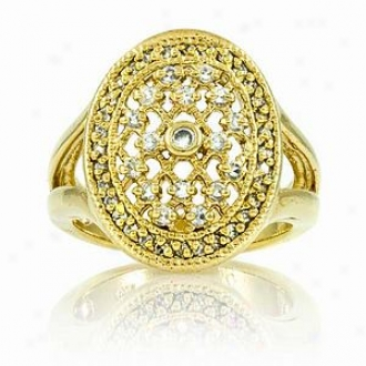 Emitations Leeva's Cz Diamond Wedding Ring - Gold Tone, 6