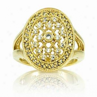 Emitations Leeva's Cz Diamond Wedding Rung - Gold Tone, 7