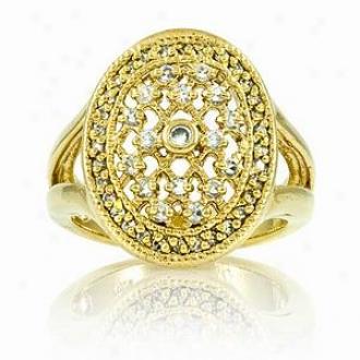 Emitations Leeva's Cz Diamond Wedding Ring - Gold Tone, 9