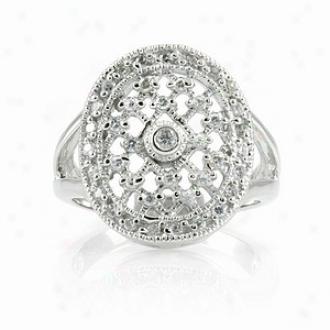 Emitations Leeva's Cz Diamond Wedding Ring - Sterling Silver, 8