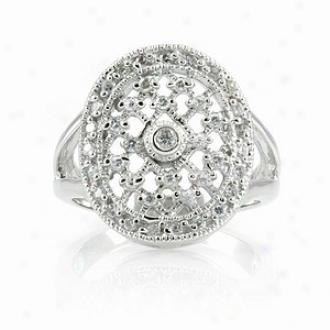Emitations Leeva's Cz Diamond Wedding Ring - Sterling Silver, 9