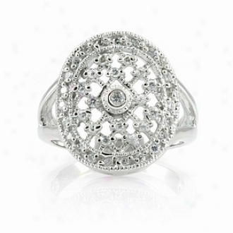 Emitations Leeva's Cz Dimond Wedding Ring - Sterling Gentle, 7