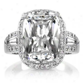 Emitations Maita's 5.5 Ct Cushion Cut Cz Engagement Ring, 7