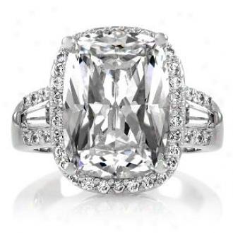 Emitations Maita's 5.5 Ct Cushion Cut Cz Engagement Ring, 8