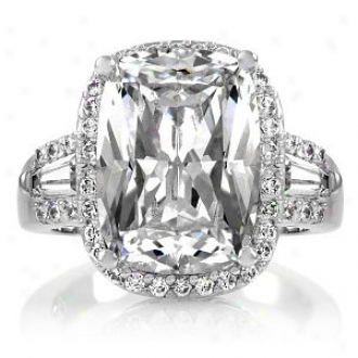 Emitations Maita's 5.5 Ct Cushion Cut Cz Engagement Rnig, 9