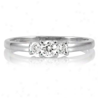 Emitatiohs Min's Petite Faux Diamond 3 Stone Ring Ring, 6