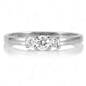 Emitations Min's Petite Faux Diamond 3 Stone Ring Ring, 8