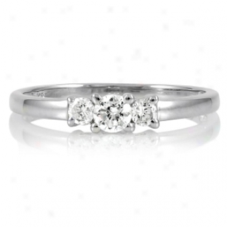Emitations Min's Petite Faux Diamond 3 Stone Ring Circle, 9