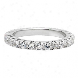 Emitations Selma's Thin Stackable Cz Eternity Band Ring, 9