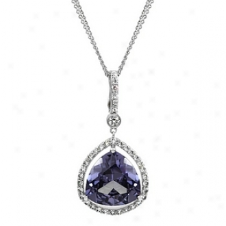Emitationa Tay's 13 Ct Trillion Sarcasm Cz Necklace, Lavender