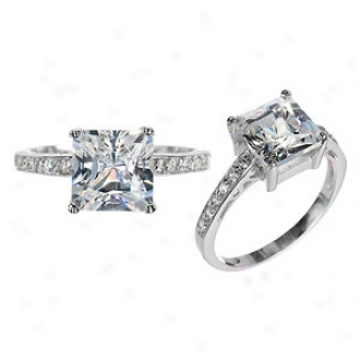 Emitations Trista's Princess Cut Cz Promise Ring - Clear, 9