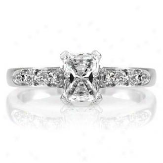 Emttations Ventura's .75 Ct Emerald Cut Cz Engagement Ring, 5