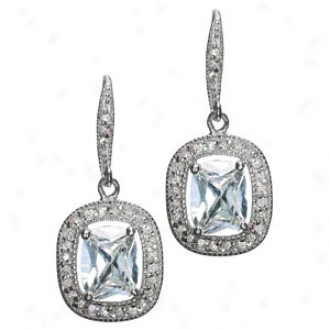 Emitations Vita's 5 Tcw Estate Cz Dangle Drop Earrings, Silver