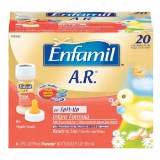 Enfamil A.r. Infant Formula In the place of Spit-up, 20 Calorie/fl Oz Nursettes, 0-3 Months