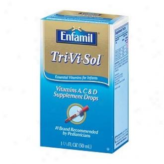 Enfamil Tri-vi-sol Supplement Drops, Vitamins A,d & C For Infants