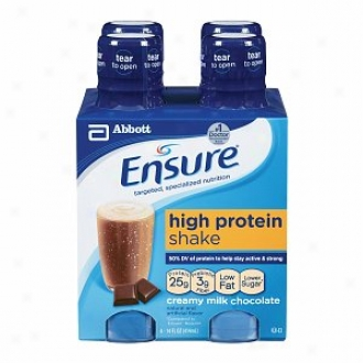 Ensure High Protein Nutrition Shake, 14oz B0ttles, Creamy Milk Chocolate