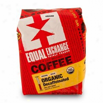 Equal Exchange Organic Coffee, Decaffeinated Drip Grind Coffee