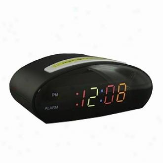 Justice Multi-colored Led Digital Alarm With Nihgtlight