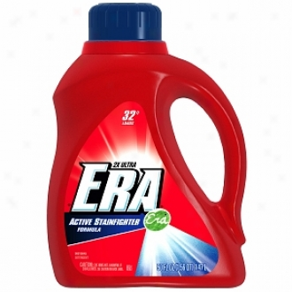 Era Lkquid Detergent, 2x Ultra, Active Stainfighter Formula, 32 Loads