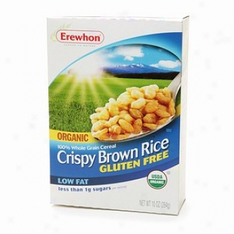 Erewhon Organic 100% Whole Grain Cereal, Gluten Free, Crispy Brown Rice