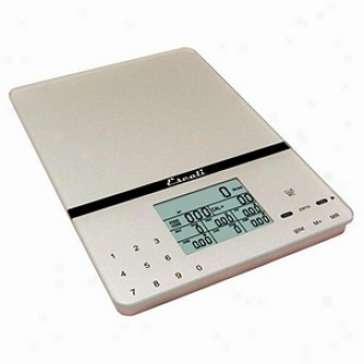 Escali Cesto Portabble Nutritional Tracker Scale In Silver Grey