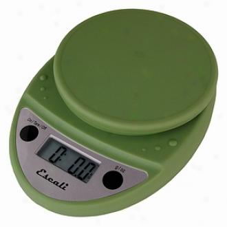 Escali Primo Digital Scale, 11 Lb / 5 Kg, Tarragon Green