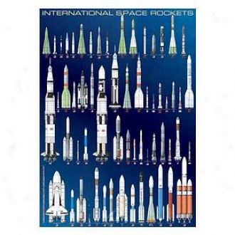 Eurographics Inc Int3rnational Space Rockets: 1000 Pc Ages 12 And Up