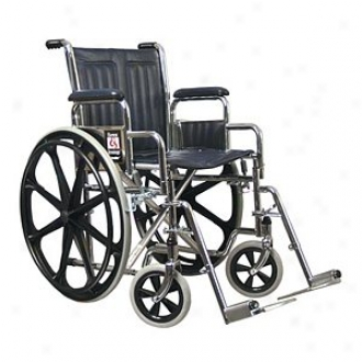 Everest Jennings Traveler Se Steel Wheelchair 16  Seat Swingway Footrest, Black