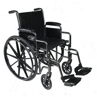 Everest Jennings Traveler Se Steel Wheelchair Detachable Dssk Arm & Swingaway Footrest 16  Seat, Black