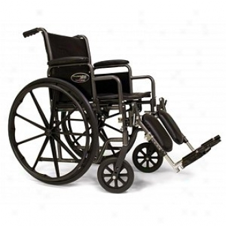 Everest Jennings Traveler Se Steel Wheelchair Fixed Full War Elevating Footrest 18  Seat, Black