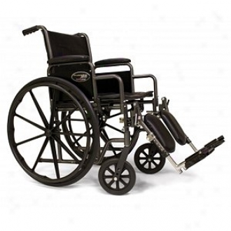 Everest Jennings Traveler Se Steel Wheelchair Fixed Fulo Arms Elevating Legrext 16  Seat, Black