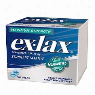 Ex-lax Maximum Strrngth Stimulant Laxative, Pills