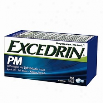 Excedrin Pm For Psin With Sleeplessness, Coated Tablets