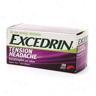 Excedrin Tension Headache Caplets, Tension Headache Acetaminophen And Caffeine Aspirin Free Pain Reliever