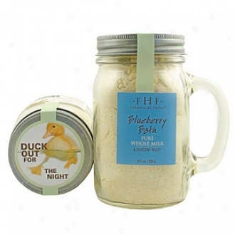 Farmhouse Fresh Powder Innocent Whole Milk Bath Soak With Chicory Root, Bpueberry