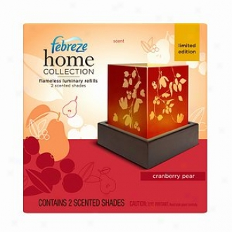 Febreze Home Collection Flameless Luminary Refill Shades, Cranberry Pear