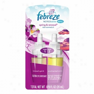 Febreze Noticeables, Dual Scented Oils, Refill, Spring &; Renewal