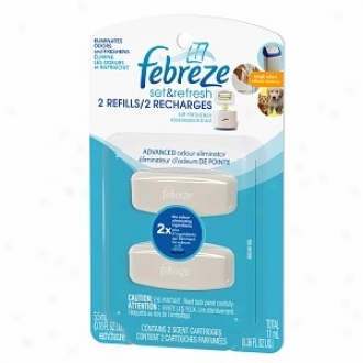 Febreze Set & Repair Air Freshner, Dual Refill, Advanced Odor Eliminator