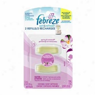 Febreze Set & Refrehs Air Freshner, Dual Refill, Spring And Renewal