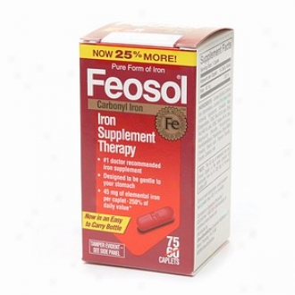 Feosol Iron Supplement Theraoy, Carbonyl Iron, 45mg, Caplets
