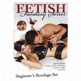Fetish Fantasy Beginner's Bondage Set In Black With Free Liking Mask