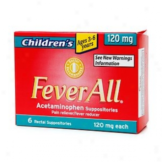Feverall Children's Acetaminophen Suppositories, 120mg, Ages 3-6 Years