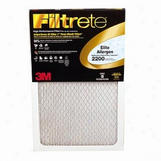 Filtrete Elite Allergen Reduction Filter, 2200 Mpr, 20x20x1