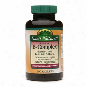 Finest Natural B-complex Vitamin C With Folic Acid And Biotin Caplets