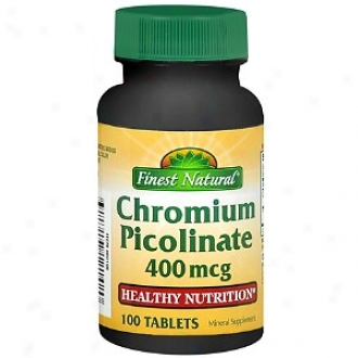 Finest Natural Chromium Picolinate 400 Mcg Dietary Supplement aTblets