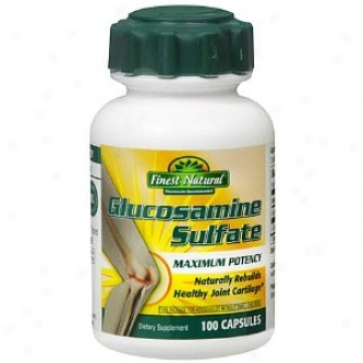 Finest Natural Maxiumm Potency Glucosamine Sulfate 1000 Mg Caplets