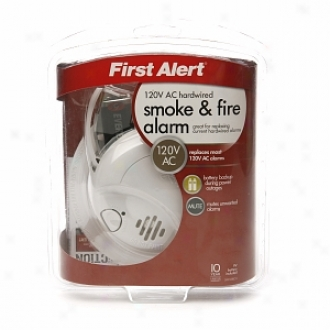 First Alert Smoke & Fire Alarm, Hardwired With Battery Backup