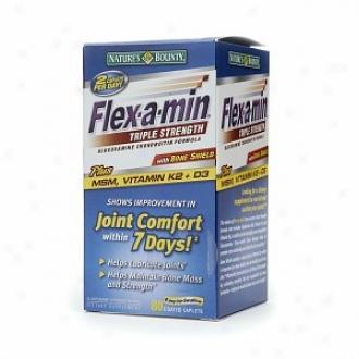 Flex-a-min Triple Strength Glucosamine Chondroitin Formula, Coated Caplets