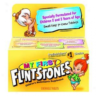 Flintstones My First Flimstones Multivitamin, Ages 2-3 Yearw, Cheeable Tablets