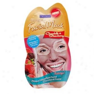 Freeman Detoxifying Facial Mask, Chocolate & Strawberry